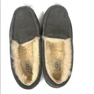 UGG Ascot Slippers Grey Suede Men Size 5 NWOT